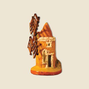 Moulin puce hauteur 9 cm (argile)