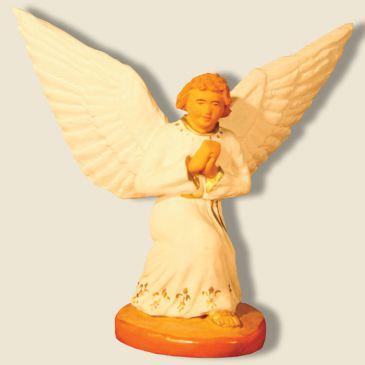 Ange gardien à genoux blanc 13 cm