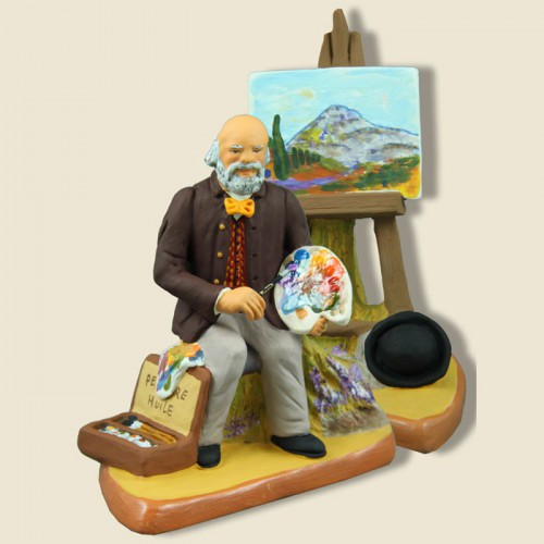 image: Famous painter from Aix en Provence with his easel