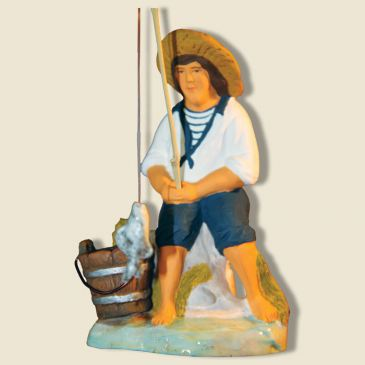 Seated fisherman