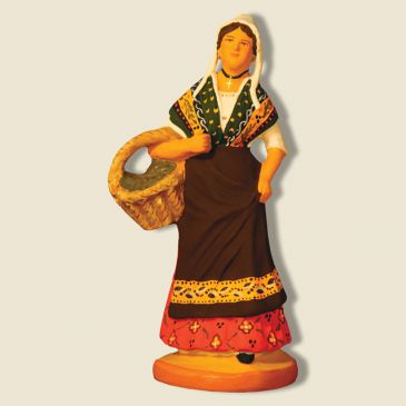 image: Provençal lady carrying olives
