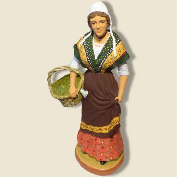 Provençal lady carrying olives