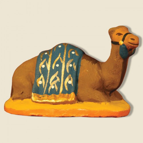 image: Dromedary lying down, blue