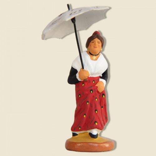 image: Arlésienne avec ombrelle
