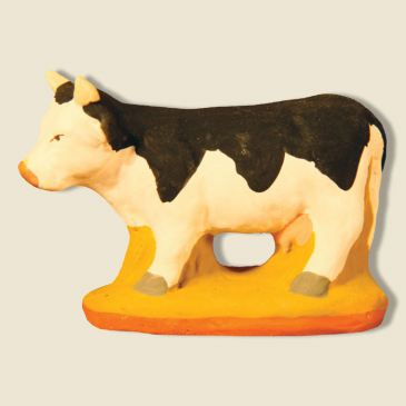 image: Vache Marguerite noire et blanche