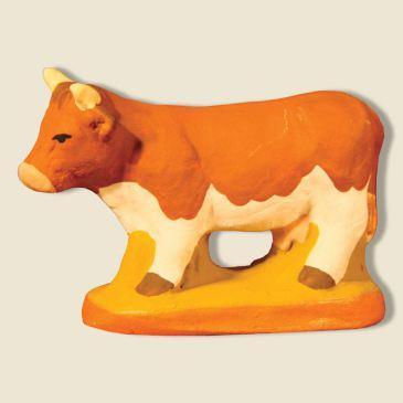image: Vache Marguerite marron et blanche