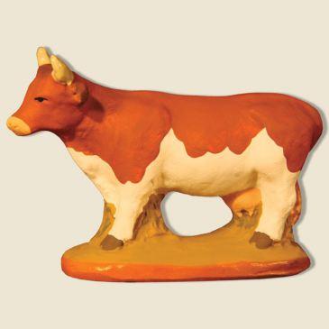 Vache Marguerite marron et blanche 6 cm