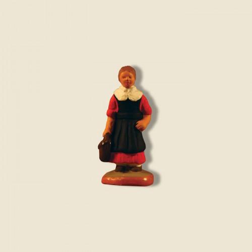 image: L'écolière (robe rouge)