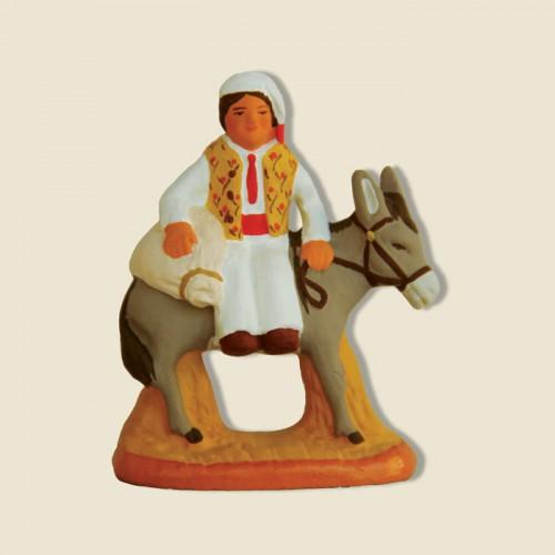 image: Meunier sur âne avec farine