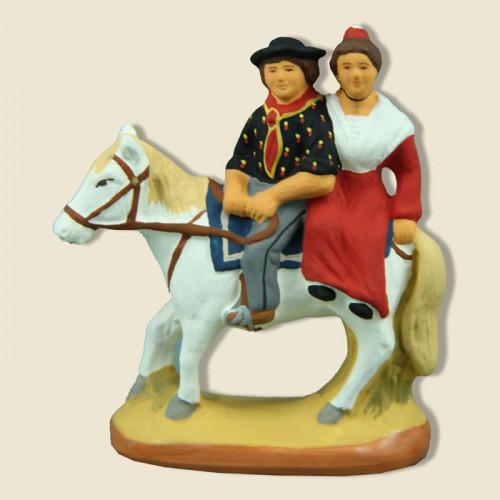 image: Gardian et arlésienne à cheval