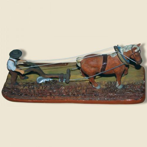 image: Laboureur et son cheval