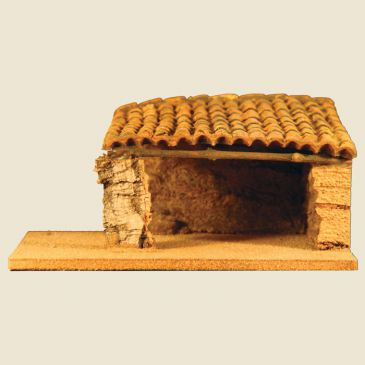 Cowshed (1 Slope roof - cork cowshed and clay roof)