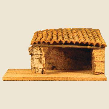 Etable 1 pente (étable en liège, toit en argile) 2 cm