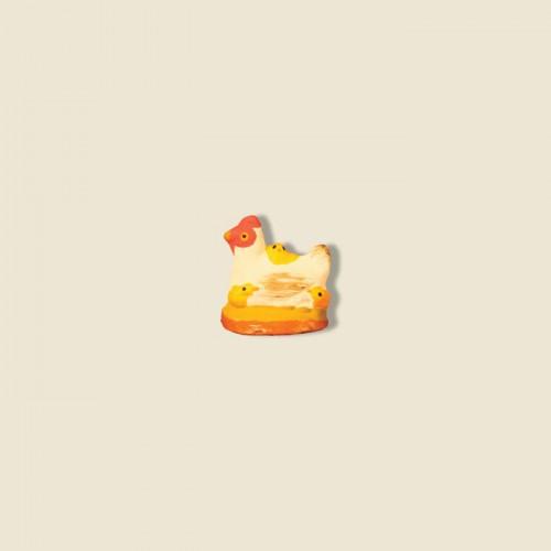 image: Poule blanche avec poussins