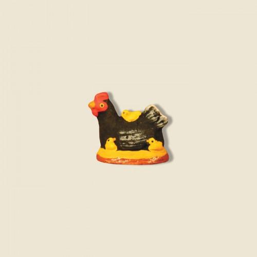 image: Poule noire avec poussins