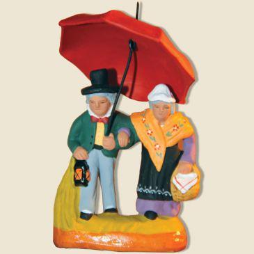 image: Couple au parapluie