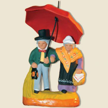 image: Couple with an umbrella