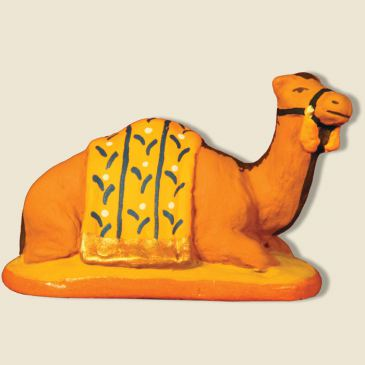 Dromedary lying down, yellow