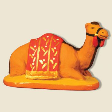 image: Dromedary lying down, red