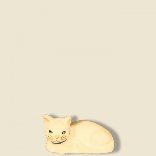 image: Cat lying down (white)