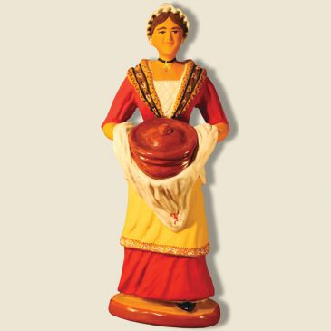 Woman carrying provencal dish