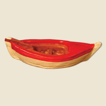 Fishing boat (all clay) red