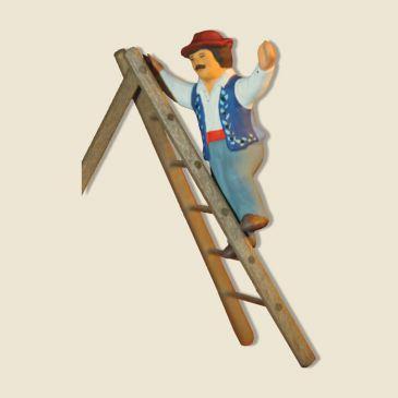 image: Olive picker on step-ladder