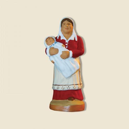 image: Nourrice avec bébé (rouge)