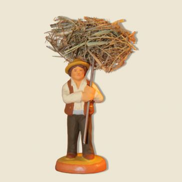 image: Man with bundle of Hay