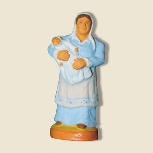 image: Nourrice avec bébé (bleue)