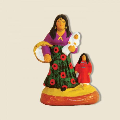 image: Gitane avec 2 enfants