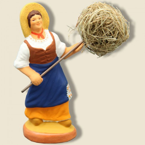 image: Woman with bundle of Hay (yellow)