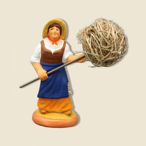 image: Woman with bundle of Hay (yellow)