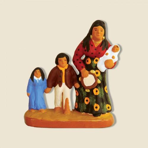 image: Gitane avec 3 enfants