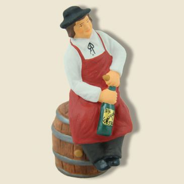 image: Sitting and Tasting Wine and Barrel