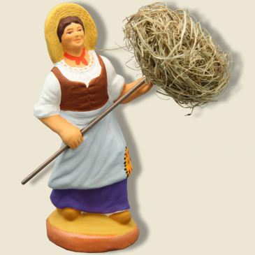 image: Woman with bundle of Hay (purple)