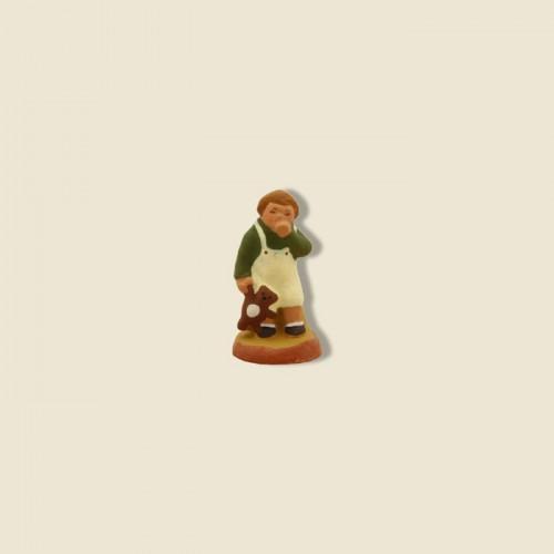image: Petit garçon au nounours (chemise verte)