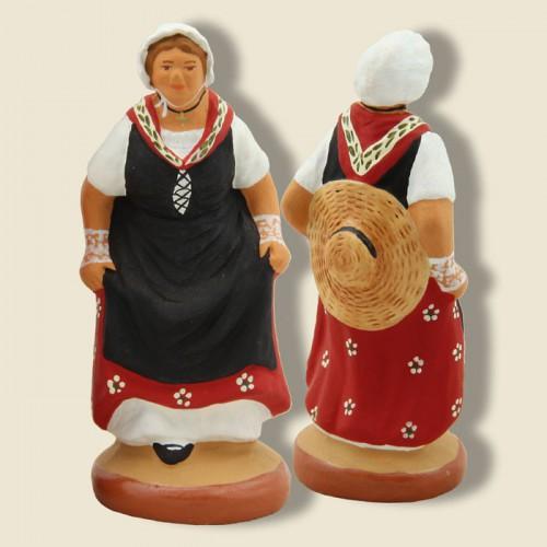 image: Lady dancing provençal quadrille (red)