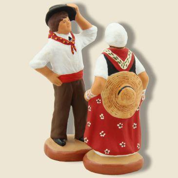 image: Danseurs du quadrille sisteronnais (couple rouge)