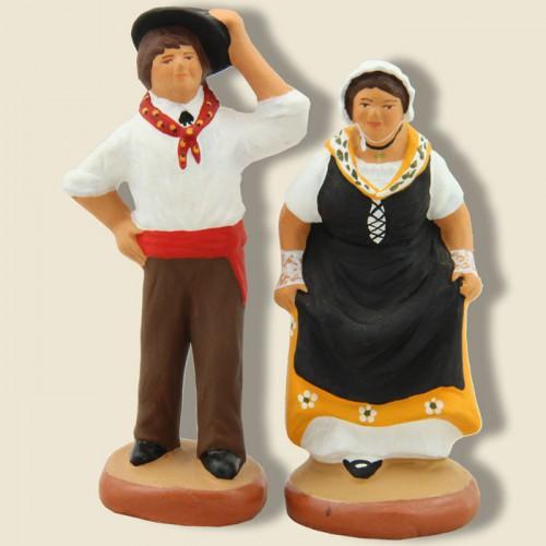 image: Danseurs du quadrille sisteronnais (couple jaune)
