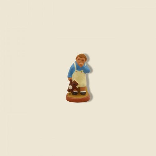 image: Petit garçon au nounours (chemise bleue)