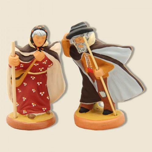 image: Sheperdess & Shepherd in the Crau area (brown)