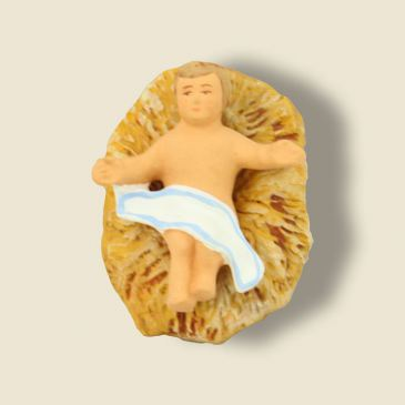 image: Jesus alone + clay straw