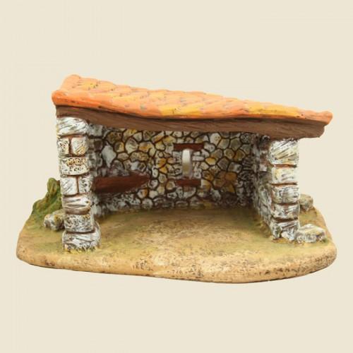 image: Etable 1 pente sur socle (plâtre)