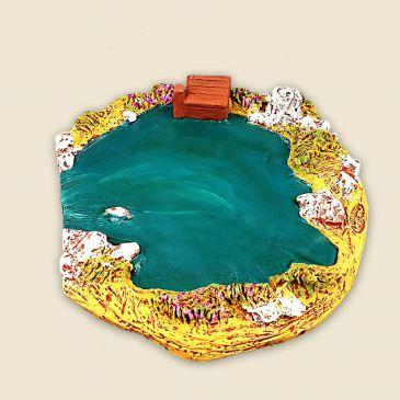 La mare aux canards (plâtre haute densité)
