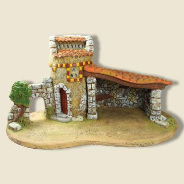 Pigeon house and Stable on a plinth (gypsum)