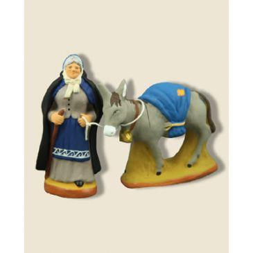 Tante Adeline et son âne 6 cm