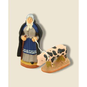 Tante Adeline et son cochon 6 cm