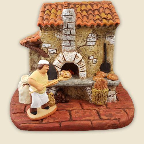 Fournil avec boulanger 9 cm