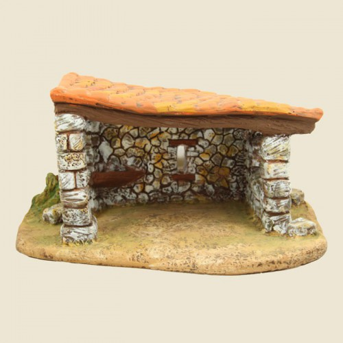 image: Stable on a plinth (gypsum)